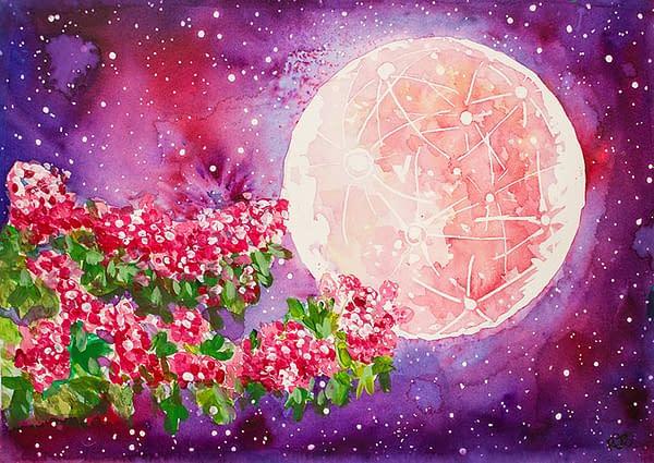Flower Moon Print Art Somerset