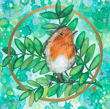 Robin Illustration for Print and Greeting cards